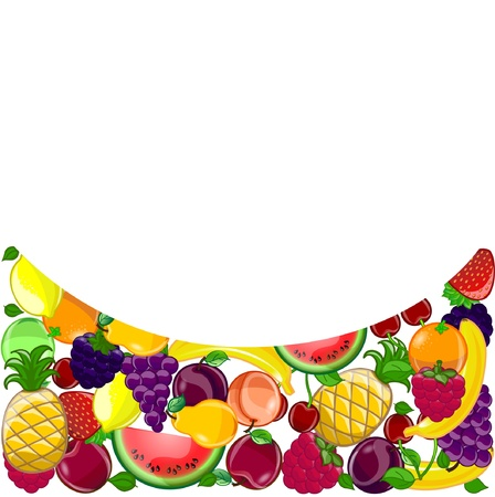 Abstract background with a variety of fruits Vector