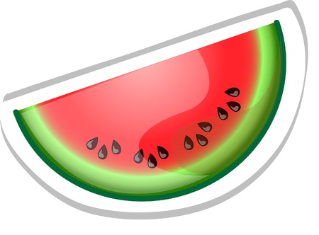 Cartoon watermelon  Vector