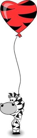 mignon de zèbre est titulaire d'un coeur ballon