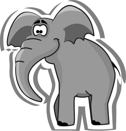 elefante cartoon: Elefante lindo de la historieta