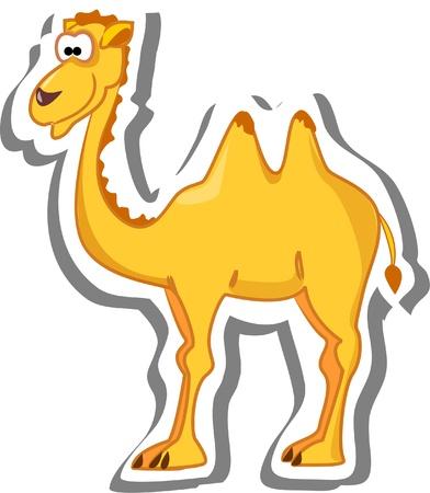 cartoon camel: Cute cartoon camel