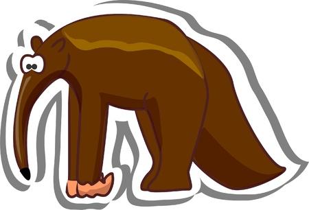 anteater: Cute cartoon anteater