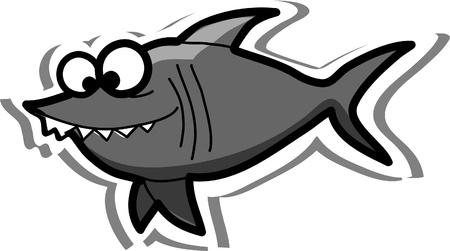 Cartoon shark Stock Vector - 13027590