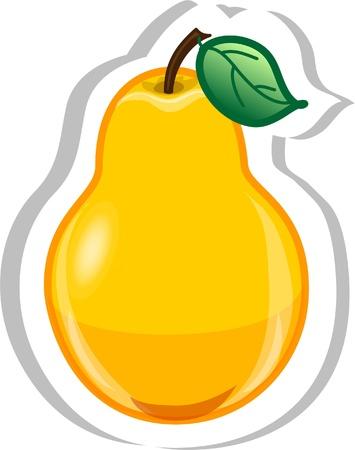 Cartoon pear  Vector
