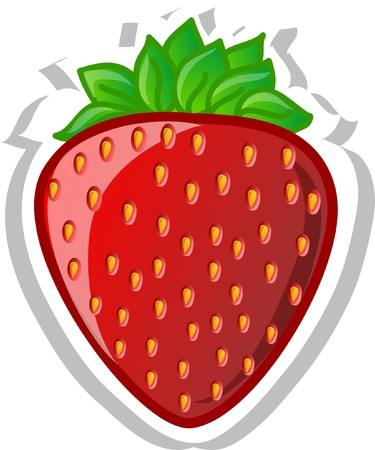 Cartoon strawberry  Vector