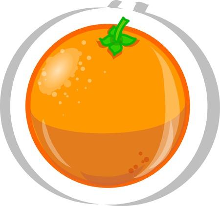 orange slice: Cartoon orange