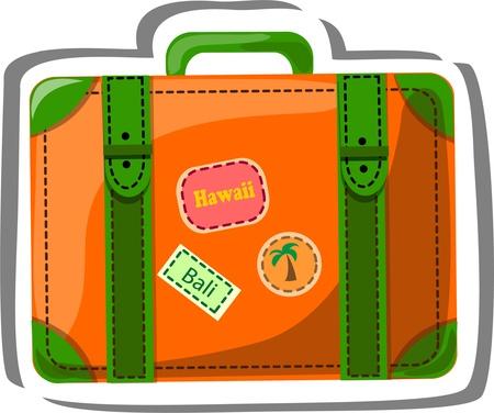 spanking: Travel icon, suitcase