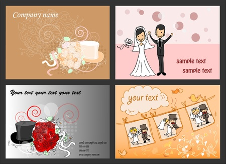Set of wedding backgrounds for your design, vector  Vector