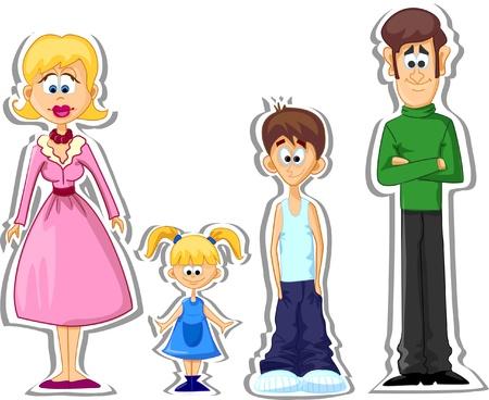 papa y mama: de la familia - madre, padre, hija, hijo