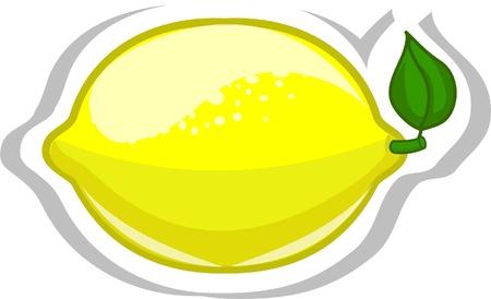 lemon juice: Cartoon lemon