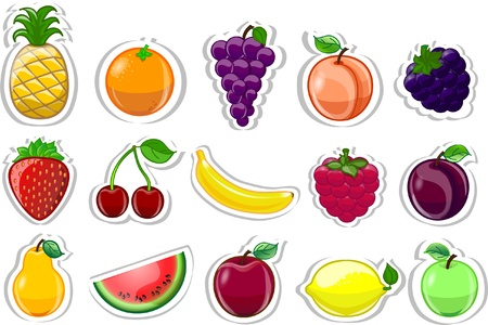 cartoon food: Cartoon fruits