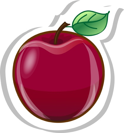 Cartoon apple Stock Vector - 13236308