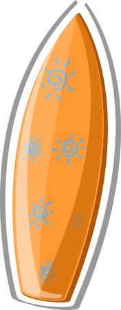 Travel icon, surfboard Vector