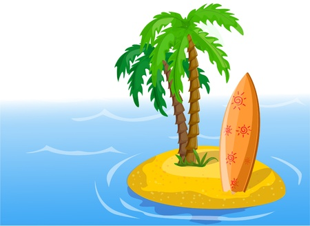 Travel background, palm Vector