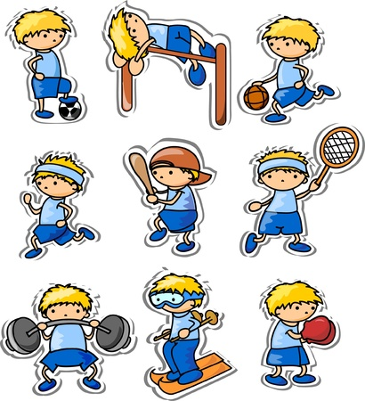cartoon sport icons  Vector