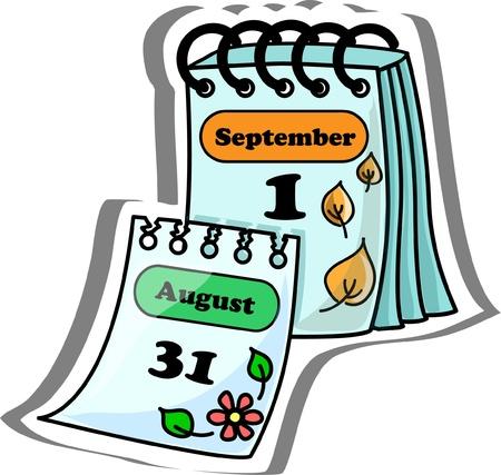 calendario escolar: Calendario de dibujos animados