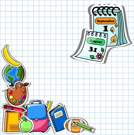 School background, vector drawing  Vector