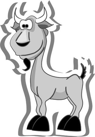 kid goat: Cartoon goat