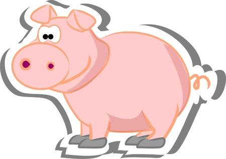 cerdo caricatura: Dibujos animados de cerdo
