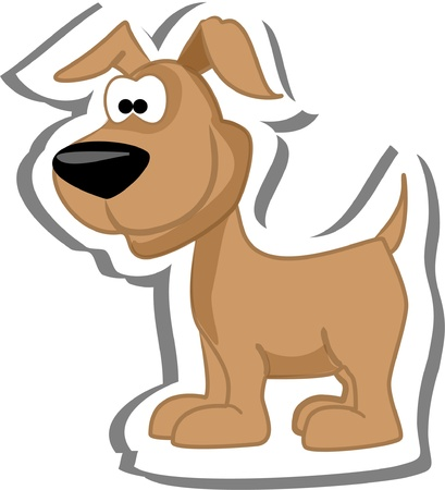 hundemarke: Cartoon Hund