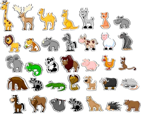 Large set of animals  Stock Vector - 13484195
