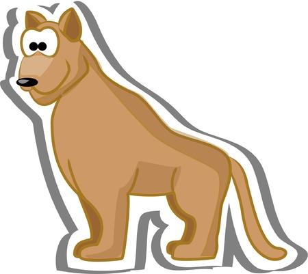 Cartoon puma Stock Vector - 13557287
