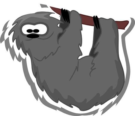 Cartoon sloth  Stock Vector - 13557295