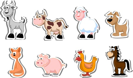 Set of farm pets  Vector