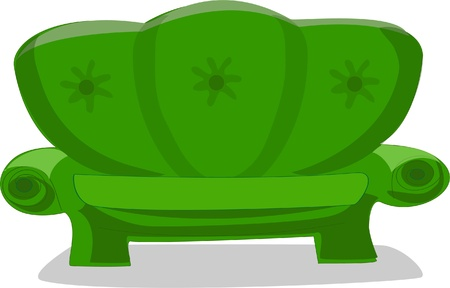 Cartoon sofa  Vector