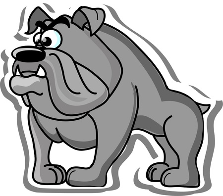 Cartoon bulldog  Vector