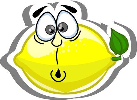 frutas divertidas: Caricatura de limón