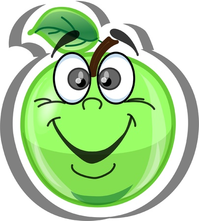 Cartoon apple  Stock Vector - 14191102