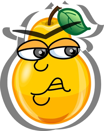 Cartoon pear  Vector