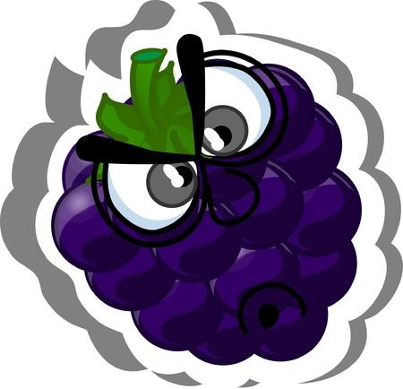 Cartoon blueberries  Vector