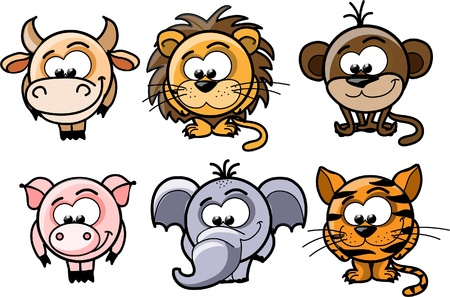 Cartoon vector animals  Stock Vector - 14255577