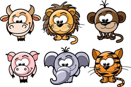 Cartoon vector animals  Vector