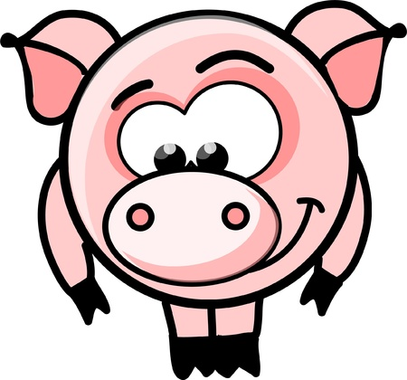Cartoon vector pig  Vector