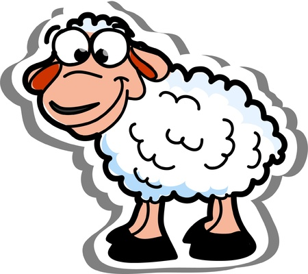 Cartoon vector sheep  Vector