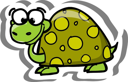 Cartoon vector turtle