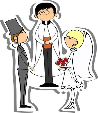 Photos de mariage, mariée et le marié dans l'amour