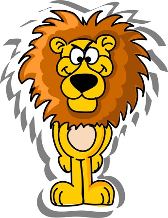 australia jungle: Cartoon lion