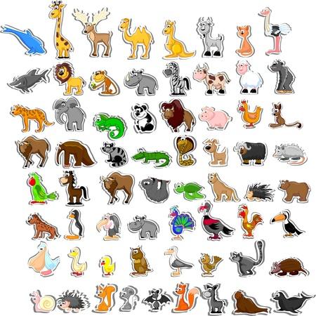 vaca caricatura: Gran conjunto de animales