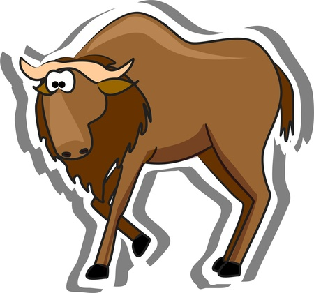 in ox: Cartoon musk ox