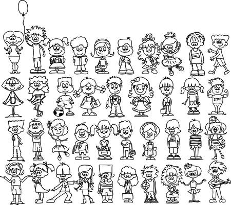 nice smile: Cute happy cartoon kids  Illustration