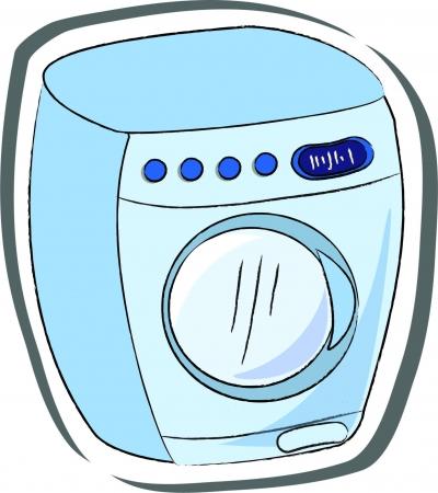 machine made: Vector washing machine Illustration