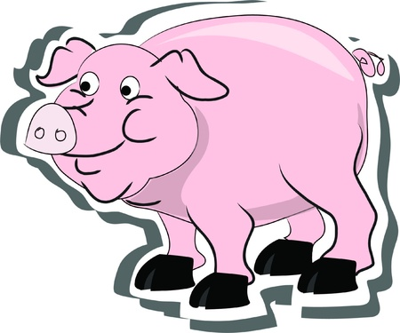 pig, living on a farm  Stock Vector - 15194393
