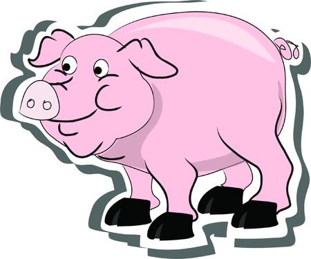 pig, living on a farm Stock Vector - 15194393