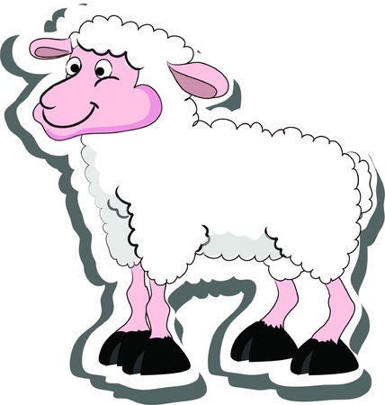 sheep, living on a farm  Vector
