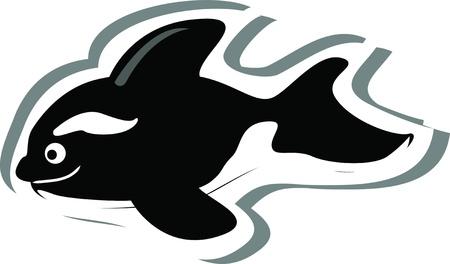 Cartoon killer whale Stock Vector - 15048988