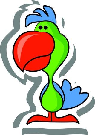Cartoon parrot Stock Vector - 15305165